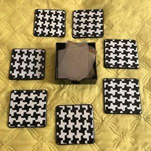 B/W pattern coasters (7)